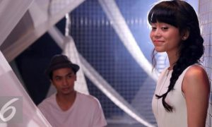 Lesti D'Academy dalam penggarapan video klip lagu Ego. (Herman Zakharia/Liputan6.com)